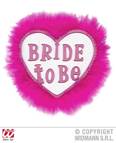 Bride To Be Brooches Hen Stag Fancy Dress Accessory