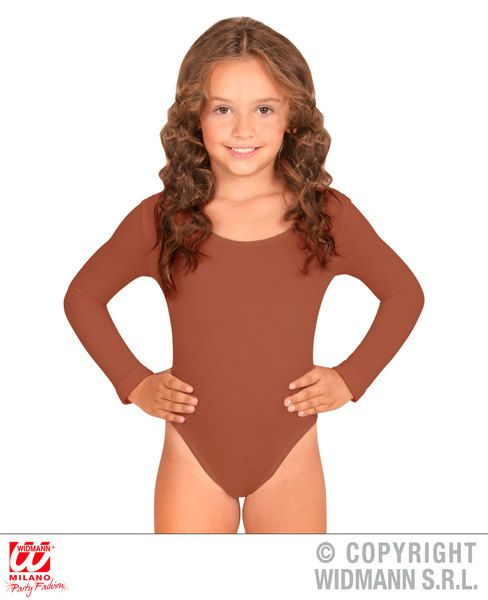Childrens Beige Body Leotard Bodysuit Fancy Dress