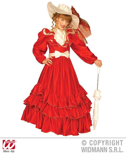 Childrens Clementina Red Costume Fancy Dress