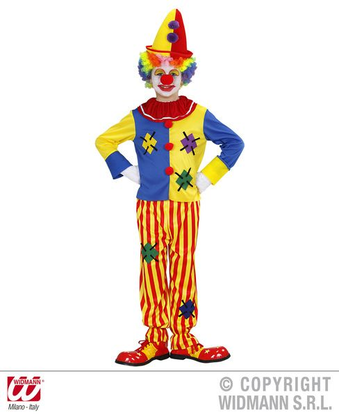 Childrens Clown Costume Circus Fancy Dress