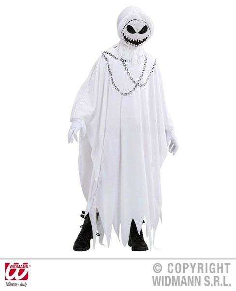 Childrens Evil Ghost Costume Halloween Fancy Dress