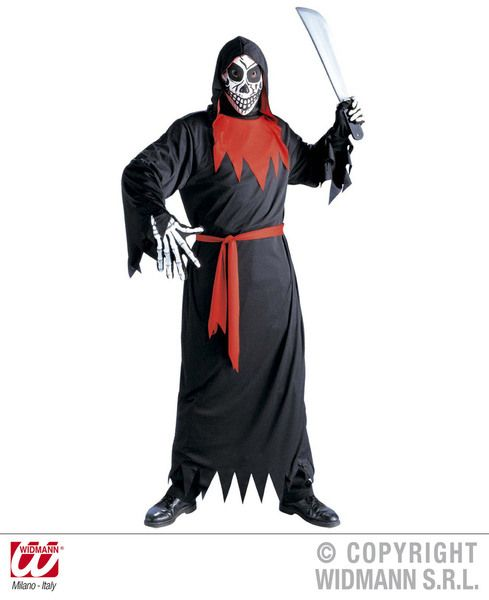 Childrens Evil Phantom Costume Halloween Fancy Dress
