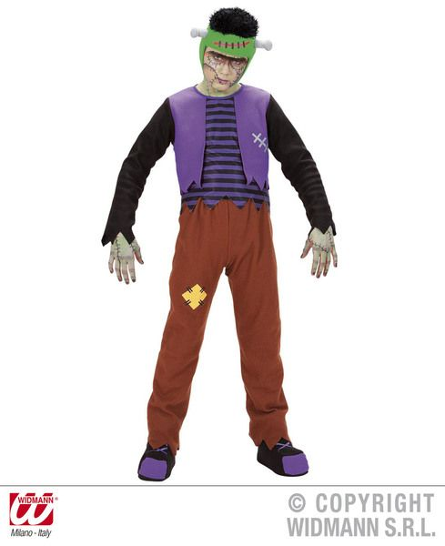 Childrens Franken Costume Halloween Fancy Dress