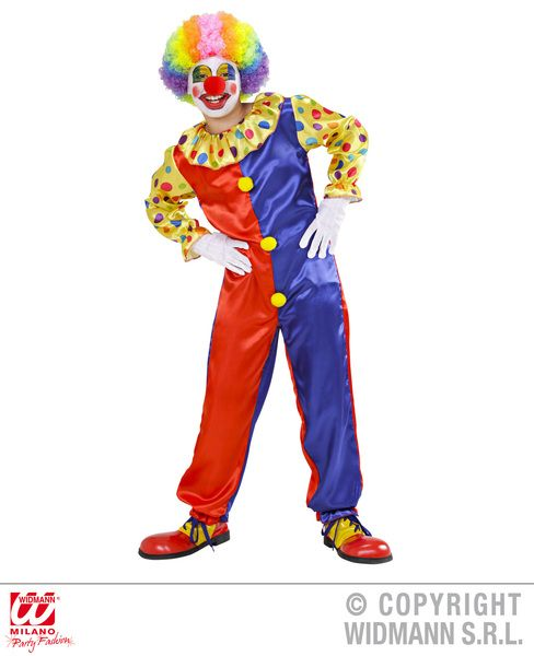 Childrens Funny Clown Jumpsuit Costume Circus Fancy Dress