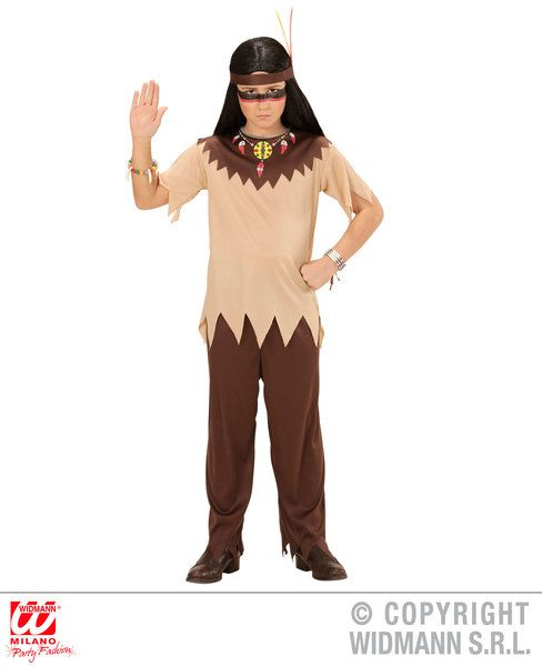 Childrens Indian Costume Cowboy Wild West Fancy Dress