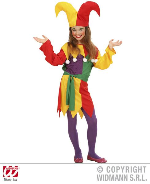 Childrens Jolly Jester Costume Circus Fancy Dress