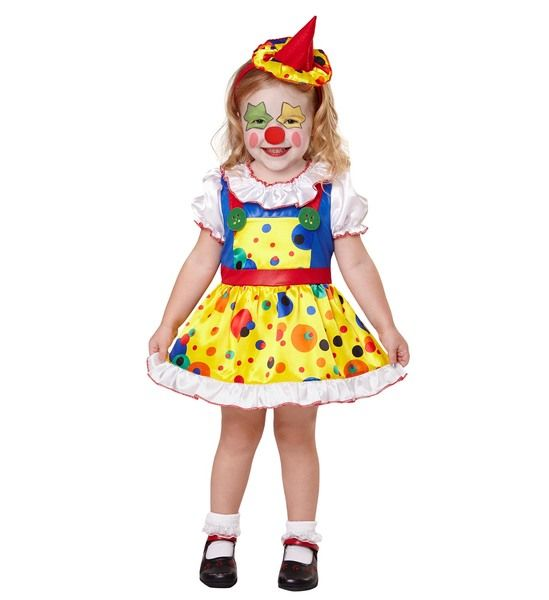 Childs Clown Girl Costume Fancy Dress