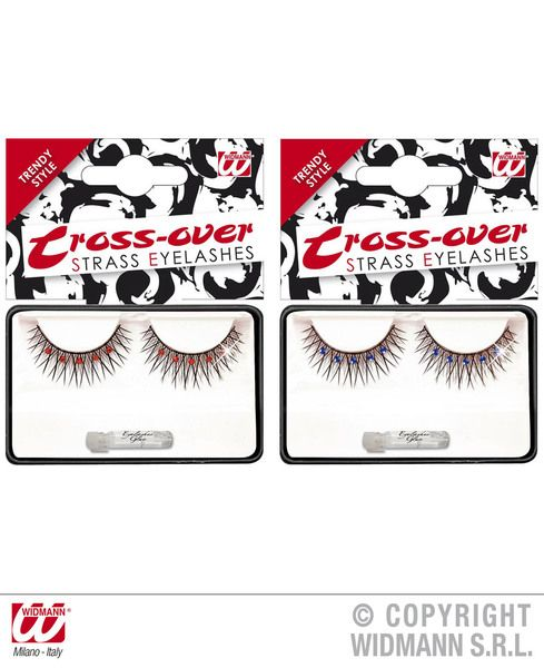 Eyelashes Black Cross Over Makeup Cosmetics