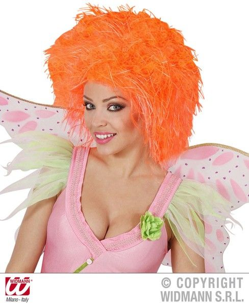 Fairy Wig In Polybag - Neon Fancy Dress