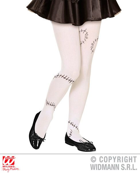 Franken Pantyhose Stiches - Child Stockings Tights Pantyhose Lingerie Halloween