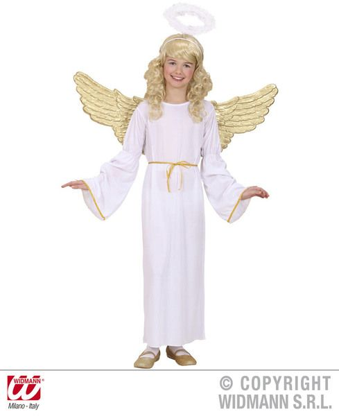 Girls Angel Girl Costume Christmas Fancy Dress