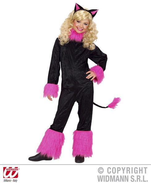 Girls Cat Girl Costume Animal Fancy Dress