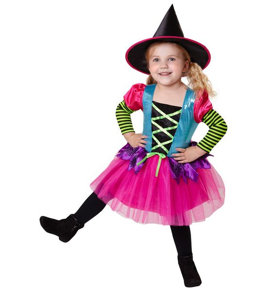 Girls Cheeky Witch Costume Fancy Dress