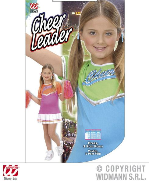 Girls Cheerleader - 2 Colours Costume Sport Fancy Dress