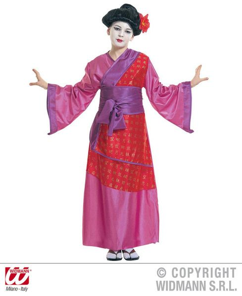 Girls China Girl Costume Oriental Fancy Dress