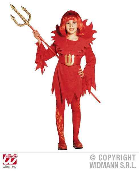 Girls Devilin Dress Costume Halloween Fancy Dress