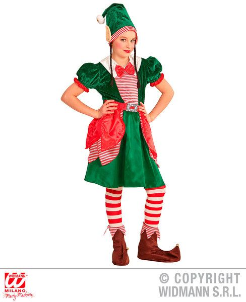 Girls Elf Girl Costume Fancy Dress