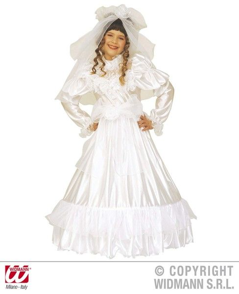Girls Glamour Michelle Bride Costume Fancy Dress