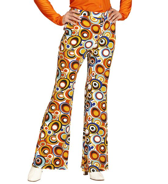 Groovy 70s Lady Pants - Bubbles Trouser Pants 70s Fancy Dress