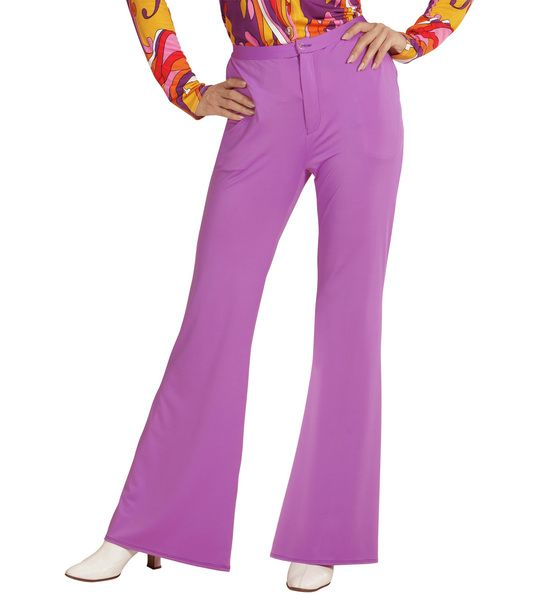 Groovy 70s Lady Pants - Lilac Trouser Pants 70s Fancy Dress