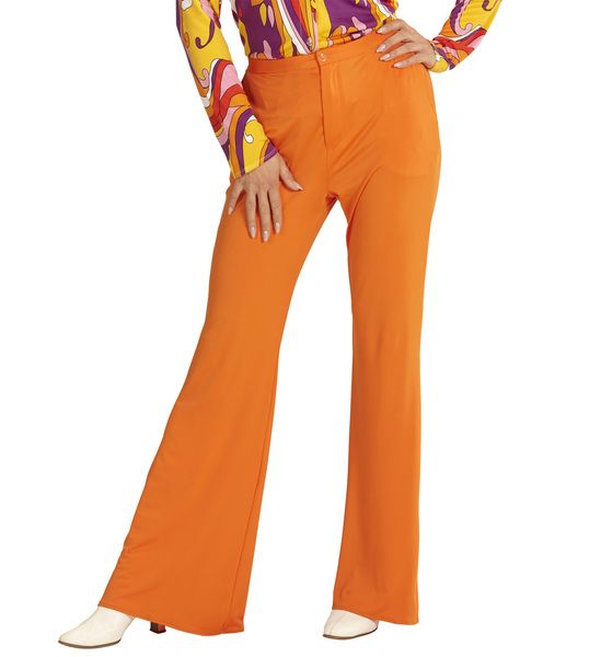 Groovy 70s Lady Pants - Orange Trouser Pants 70s Fancy Dress