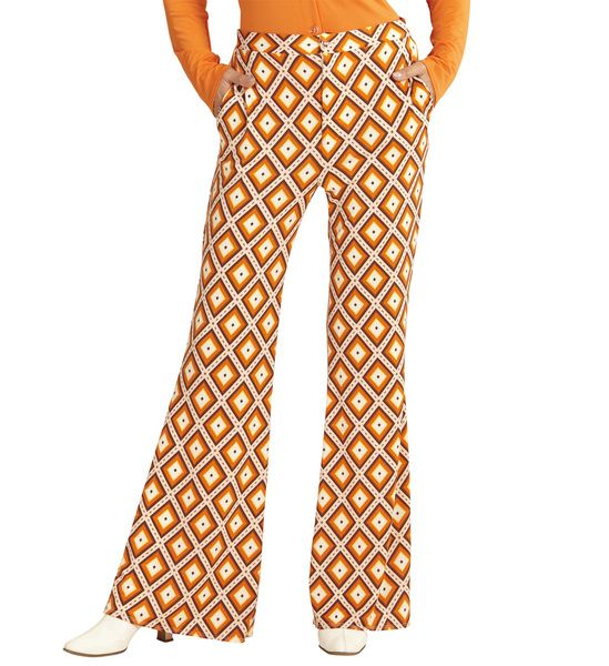 Groovy 70s Lady Pants - Rhombus Trouser Pants 70s Fancy Dress