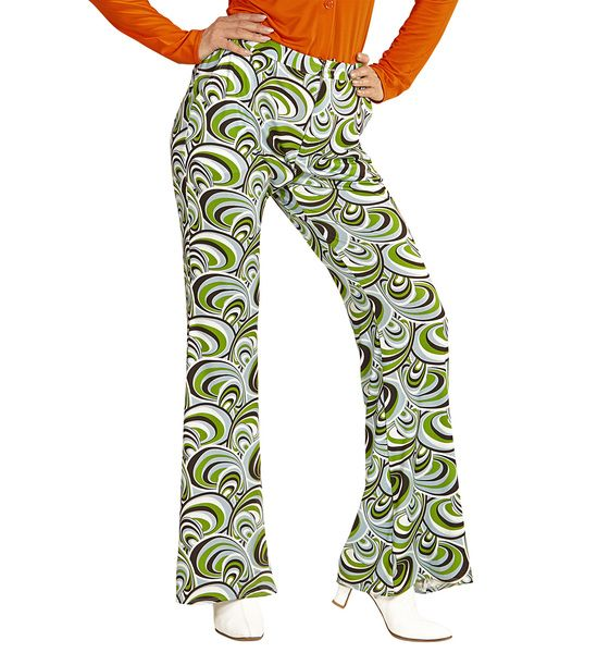 Groovy 70s Lady Pants - Waves Trouser Pants 70s Fancy Dress