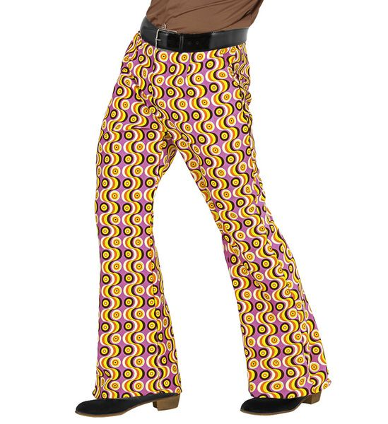 Groovy 70s Man Pants - Discs Trouser Pants 70s Fancy Dress