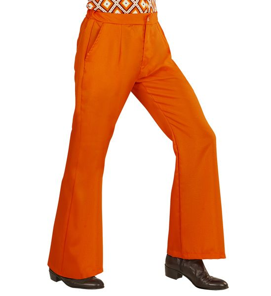 Groovy 70s Man Pants - Orange Trouser Pants 70s Fancy Dress