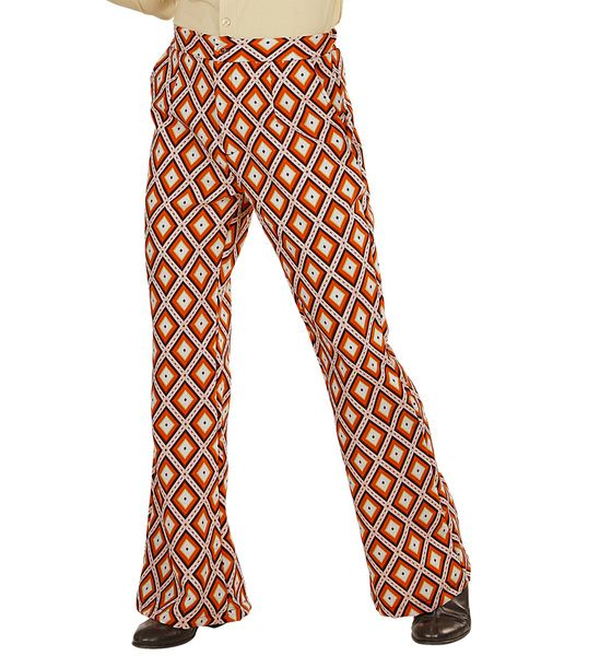Groovy 70s Man Pants - Rhombus Trouser Pants 70s Fancy Dress