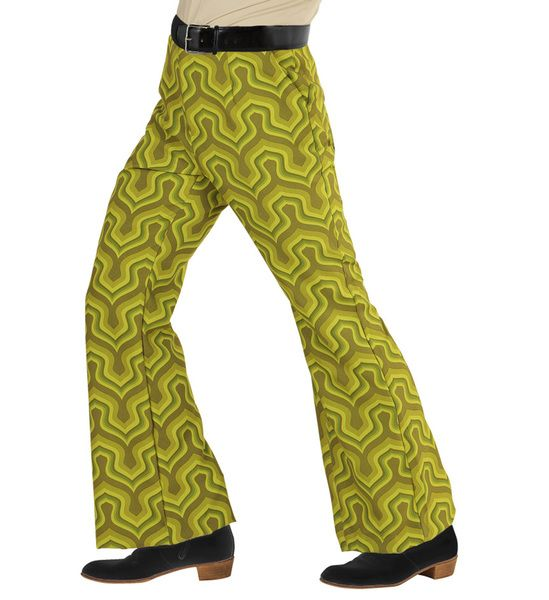 Groovy 70s Man Pants - Wallpaper Trouser Pants 70s Fancy Dress