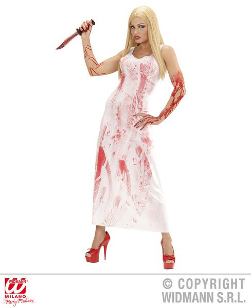 Ladies Bloody Mary Costume Halloween Fancy Dress