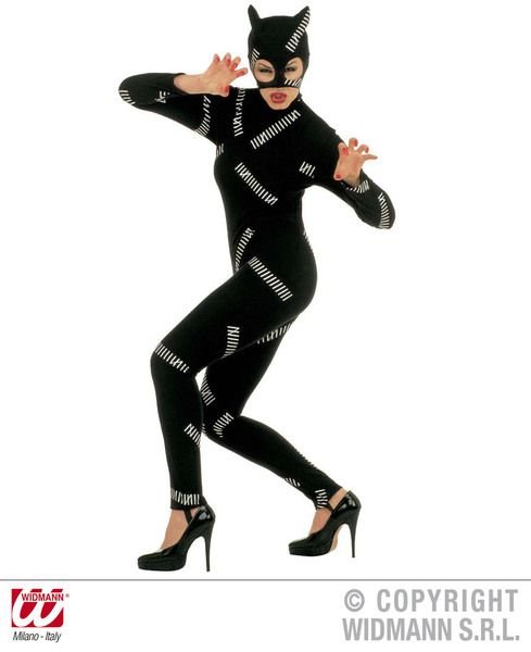 Ladies Cat Girl Costume Animal Fancy Dress