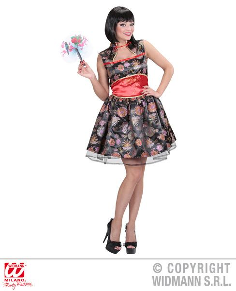 Ladies China Girl Costume Oriental Fancy Dress