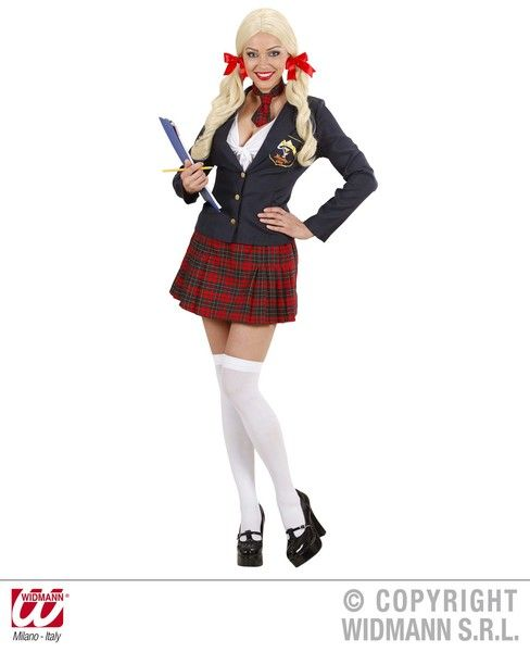 Ladies College Girl Costume School Fancy Dress