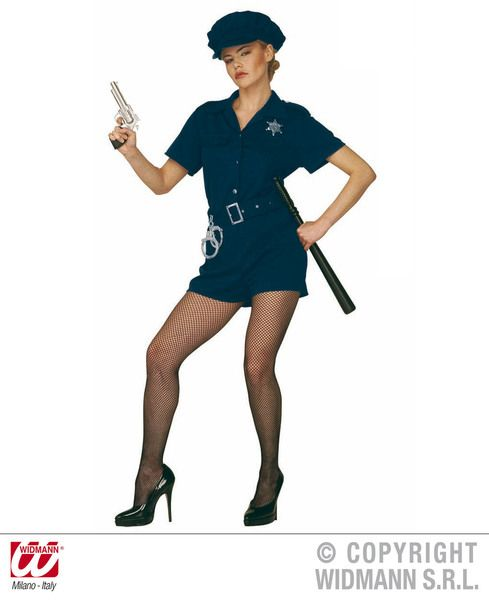 Ladies Cop Lady Costume Police Fancy Dress
