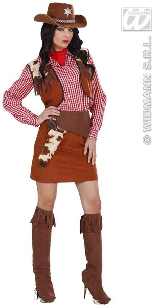 Ladies Cowgirl Costume Cowboy Wild West Fancy Dress