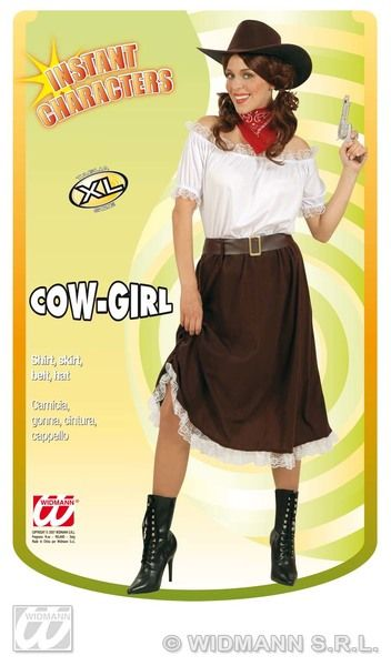 Ladies Cowgirl - Instant Costume Cowboy Wild West Fancy Dress
