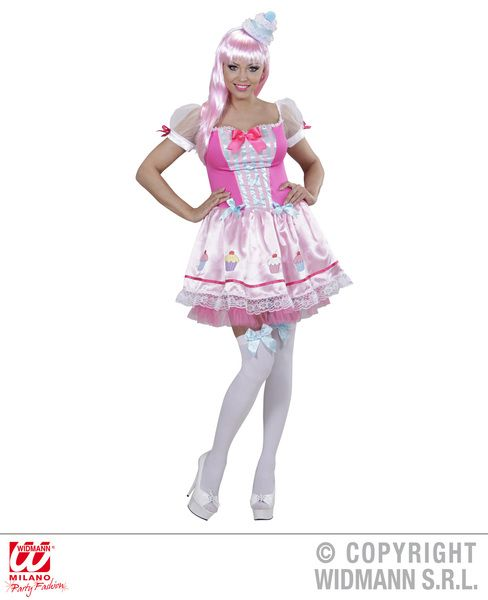 Ladies Cupcake Girl Costume Fancy Dress