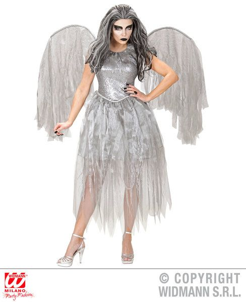 Ladies Dark Angel Costume Christmas Fancy Dress
