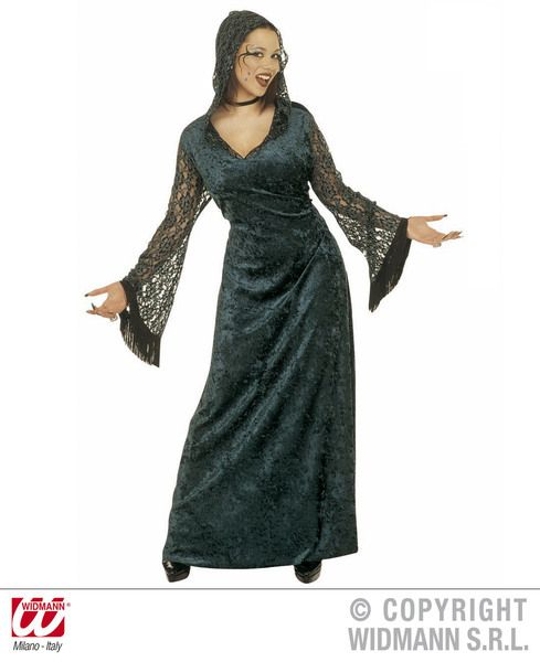 Ladies Dark Seductress Costume Halloween Fancy Dress