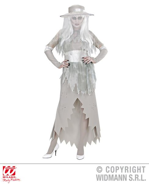 Ladies Ghostly Lady Costume Fancy Dress