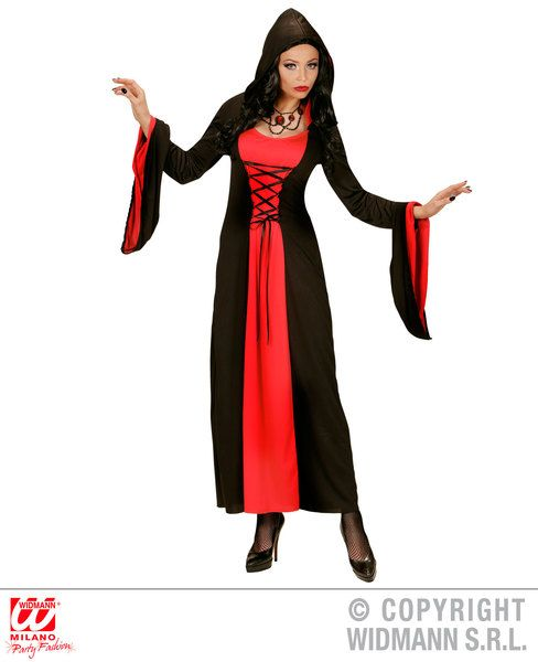 Ladies Gothic Lady Costume Fancy Dress