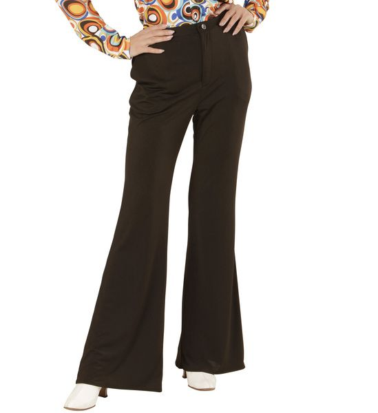 Ladies Groovy 70s Lady Pants - Black Costume 70s Fancy Dress