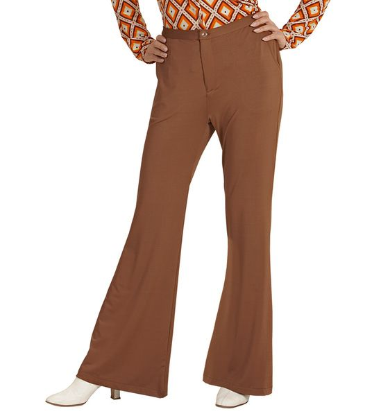 Ladies Groovy 70s Lady Pants - Brown Costume 70s Fancy Dress