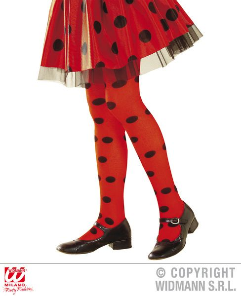 Ladybug Pantyhose - Red/Black Spot Stockings Tights Pantyhose Lingerie Animal