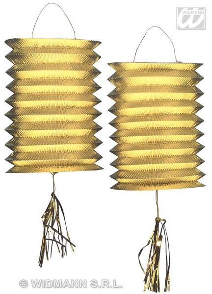 Lanterns Metallic 25cm New Years Eve Party Decoration