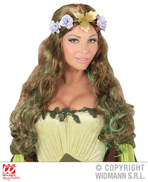 Mother Nature Wig Style Fancy Dress
