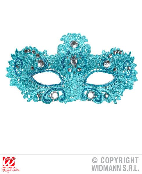 Noblesse Lace Eyemask Decorated With Glitter & Gems Fancy Dress