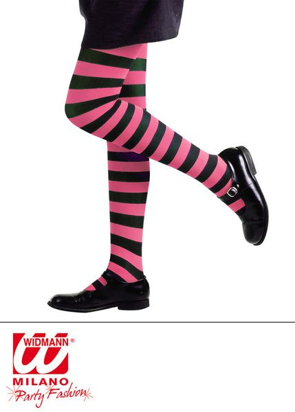 Pantyhose Striped - Pink/Black Stockings Tights Pantyhose Lingerie Fancy Dress